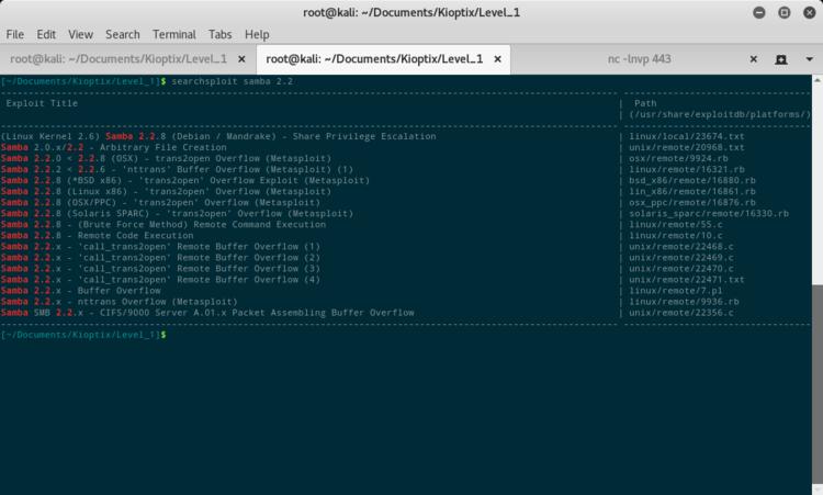 ExploitDB per samba