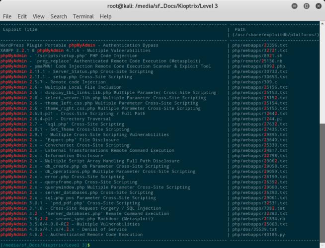 Exploit per phpMyAdmin