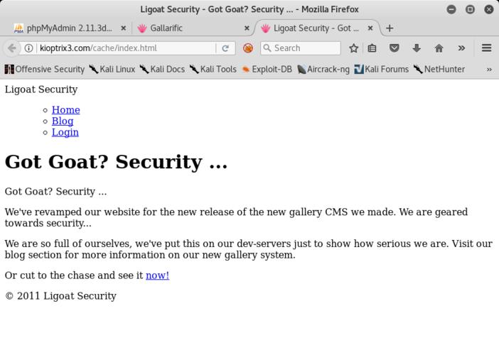 Versione cache del sito