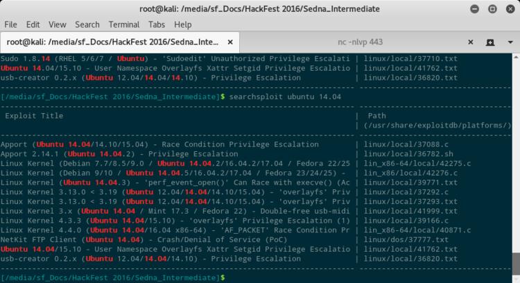 Exploit per ubuntu